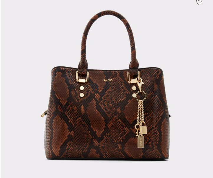Aldo Legoiri Tote Bag with Faux Snake Skin