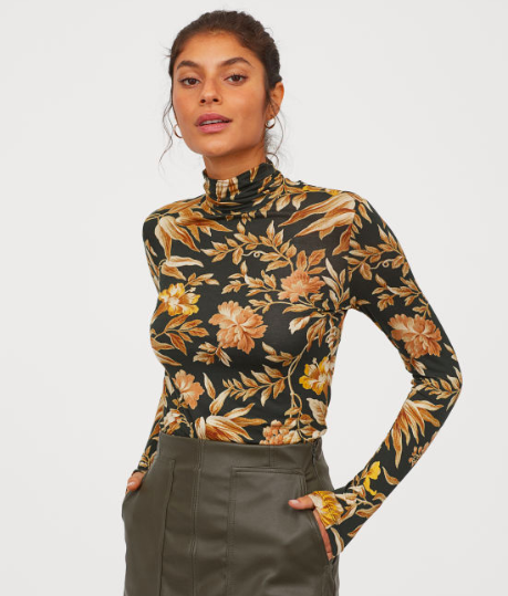 H&M Modal Turtleneck Top